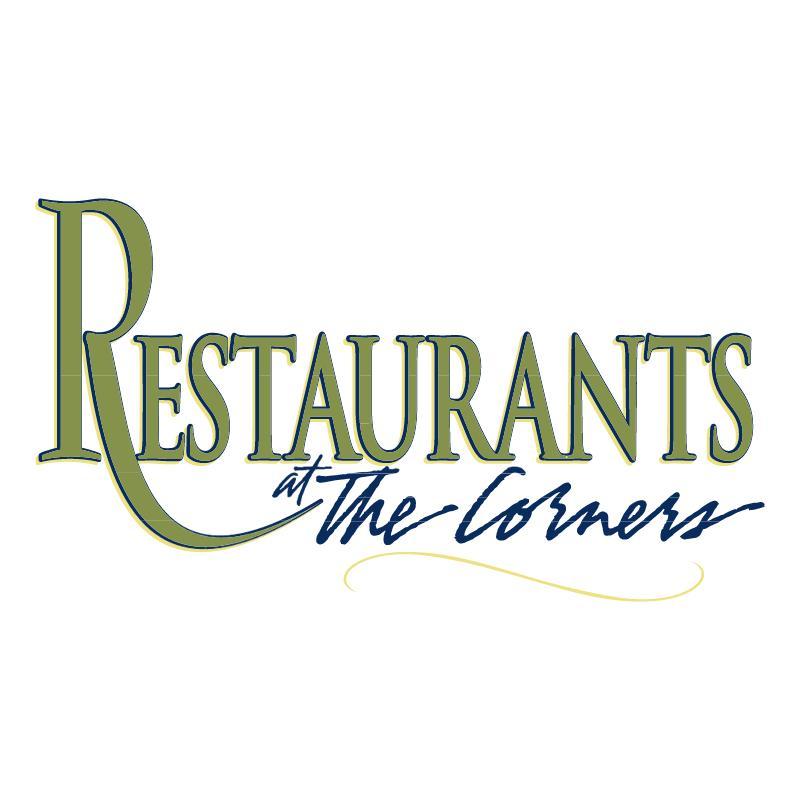 Restaurants at The Corners vector